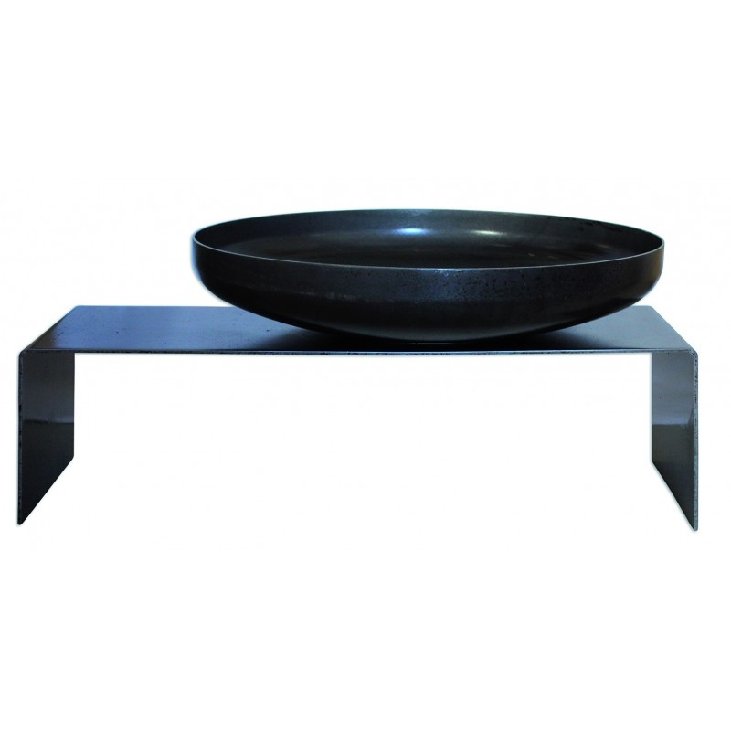 barbecue original design acier noir firebowl raumgestalt. Black Bedroom Furniture Sets. Home Design Ideas