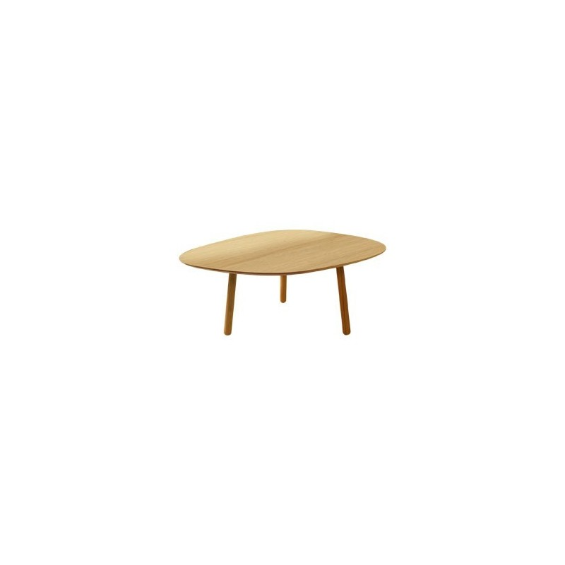 Table basse design en bois grand salon 83cm reine mere - Grande table basse de salon ...