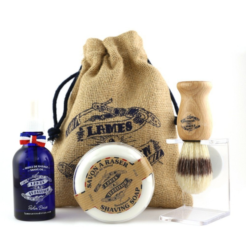Kit de Rasage Traditionnel Naturel - Lames et Tradition
