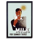 Affiche Rétro Milk For Summer Thirst - WPA