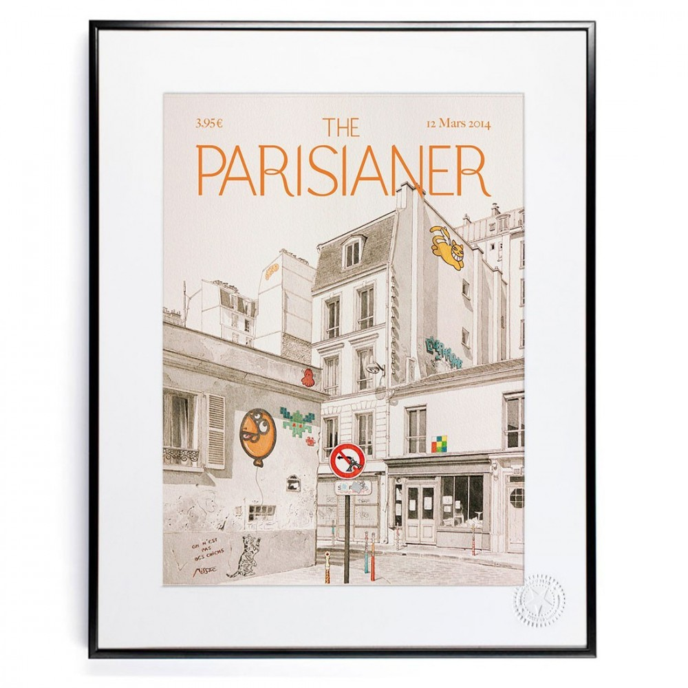 image republic the parisianer affiche paris street art. Black Bedroom Furniture Sets. Home Design Ideas