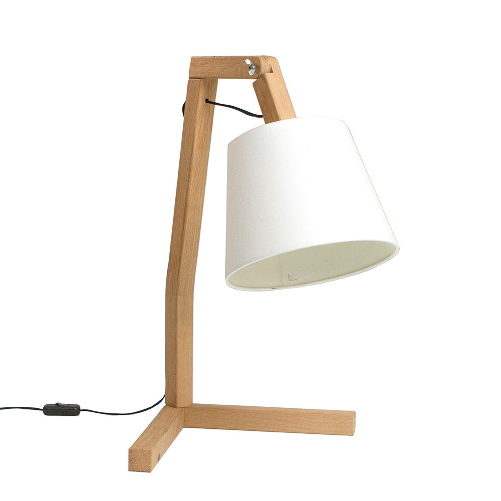 Lampe de table design en bois oud s paul bellila for Lampe design en bois