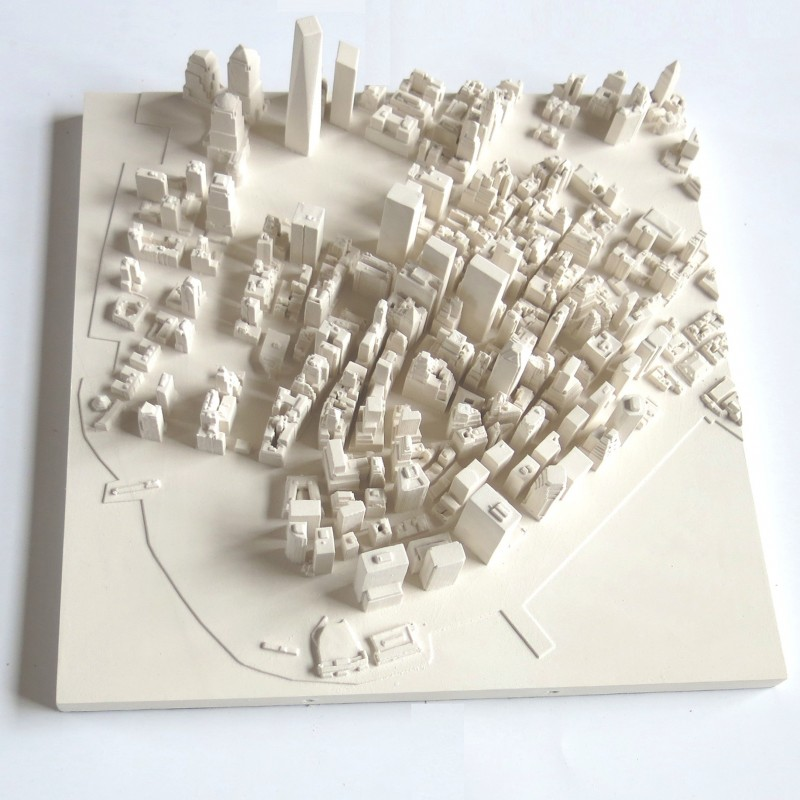 Tableau new york manhattan 3d d co murale originale for Decoration murale vue sur new york