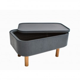 Table Basse Coffre Hat Grise