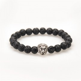 Bracelet Lion Black Lava