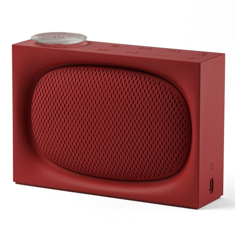 enceinte bluetooth et radio design ona rouge lexon. Black Bedroom Furniture Sets. Home Design Ideas