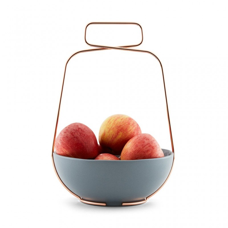 Coupe à Fruits Muselet Gris Bleu