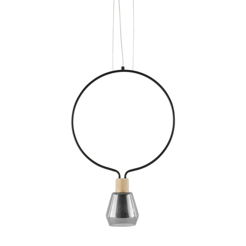 Suspension Agata Circle Noir