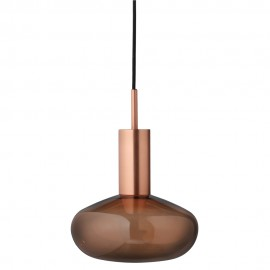 Suspension Lumineuse Bulbe en Verre Bronze - Gambi