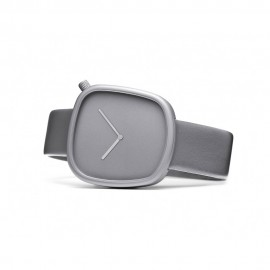 Montre Design Pebble Grise