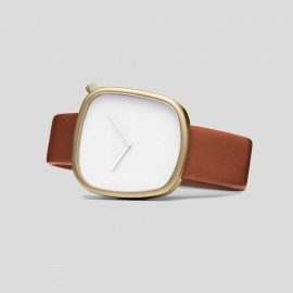 Montre Pebble Or et Fauve