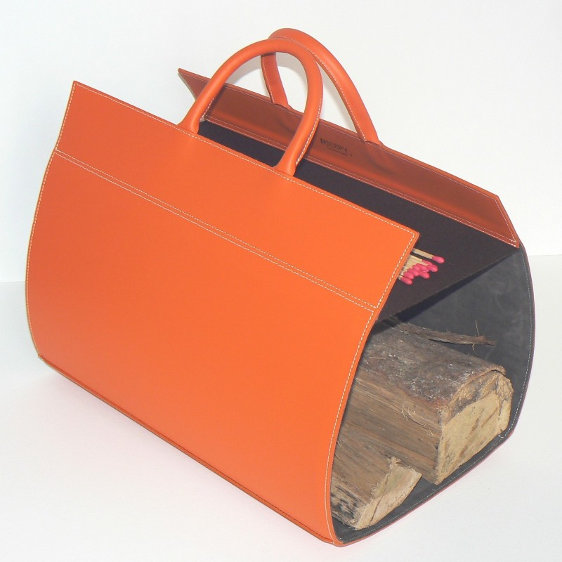 Porte-Buches en cuir orange - Midipy
