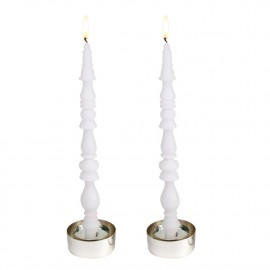 Bougies SlowLight Pompeuse - Blanc - Hautekiet Candles