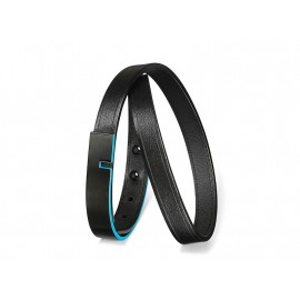 Bracelet U-Turn Twice Black et Bleu Fluo